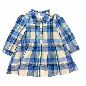 BabyGap Pleated Plaid Shirt Dress